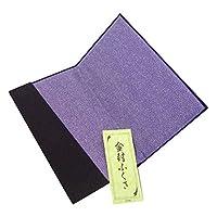 ふくさ 金封包 紫色 交織 ちりめん織り 日本製