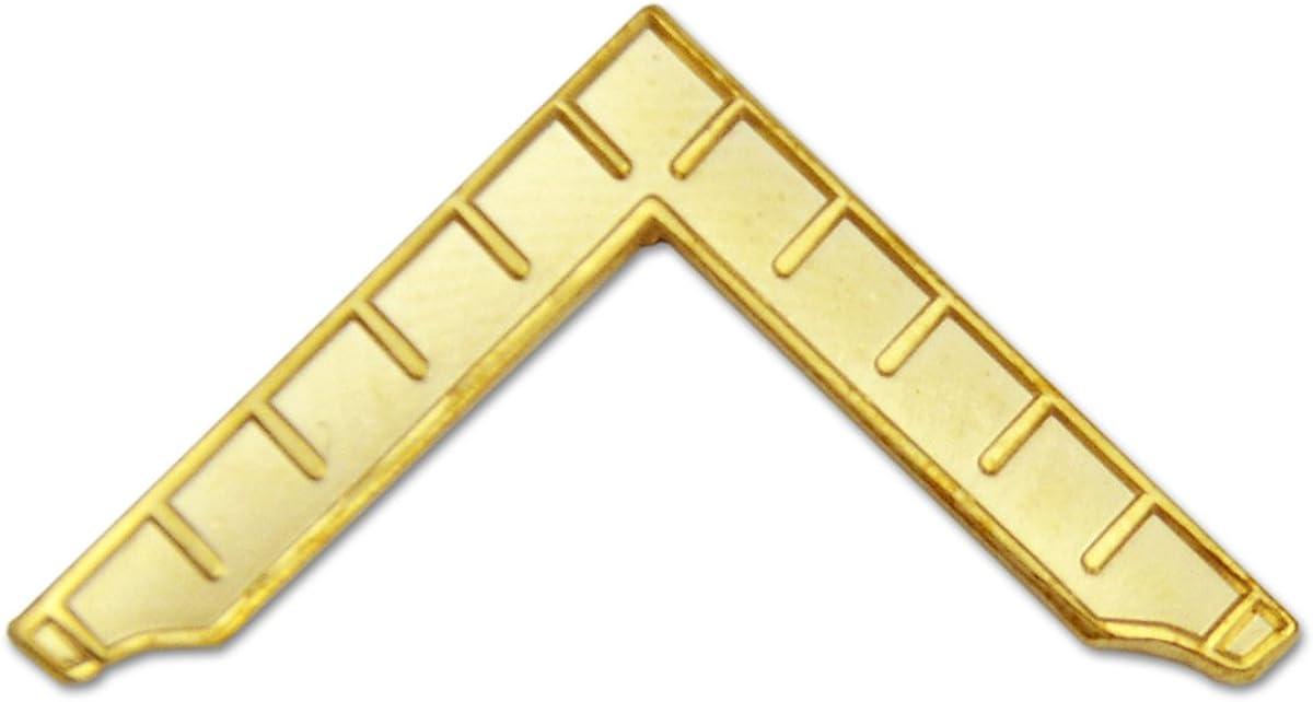 Worshipful Master's Square Masonic Lapel Pin - [Gold][1 1/4'' Wide]