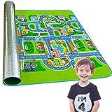 Alfombra Infantil Plegable con diseño de Carretera para niño de 3 a 9 años - Alfombras Infantiles Grandes Lavables realizada con Goma EVA y resístete al Agua