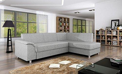 Ecksofa BARDOT mit Schlaffunktion Sofa Couch Schlafsofa Polsterecke Bettfunktion (ottomane rechts)