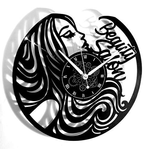 Instant Karma Clocks Orologio da Parete Parrucchiere Bellezza Barber Shop Beauty Salon, Vinile, Vintage, Handmade