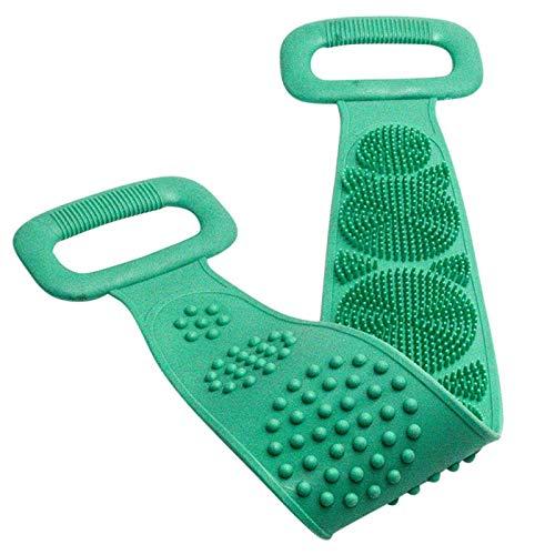 WWWL Cepillo para el cuerpo de la magia de silicona cepillo toallas de baño frotar la espalda de barro pelado masaje corporal ducha extenso fregador limpieza de la piel cepillos de lavado verde