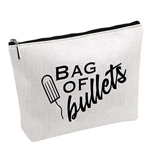 Lustige Tampon-Tasche für die Zeit und den Hygienebehälter für Geschosse, Geschenke für beste Freundin, Bullets B, 20*18,