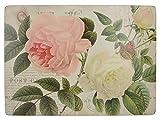 Creative Tops, tovagliette con retro in sughero Rose Garden Premium, legno, rosso, 6 pezzi