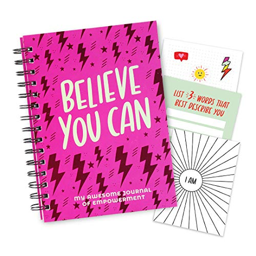 Empowerment Journal For Teenage Girls - 100 Page Journal For Kids With Prompts. Affirmation Journal Includes Stickers & Fold-out Poster. Journal Books Give Words Power! Gifts For 10, 11, 12 Years Old