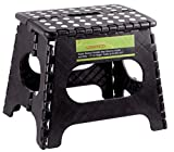 Greenco Super Strong Foldable Step Stool for Adults and Kids, 11', Black