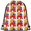 共和党の象の旗の巾着袋の体操のダンスのバックパックのショルダー・バッグのギフト36 x 43cm