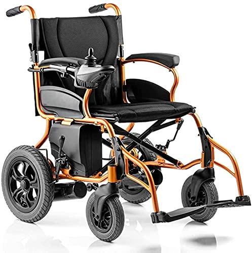 Silla de ruedas eléctrica plegable ligero ultrafiro batería de litio inteligente automática para sillas de ruedas con discapacitados de scooter