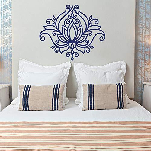 Schöne Lotus Wand Mandala Vinyl Aufkleber marokkanischen Muster böhmischen böhmischen Schlafzimmer Blumen böhmischen 75x64cm