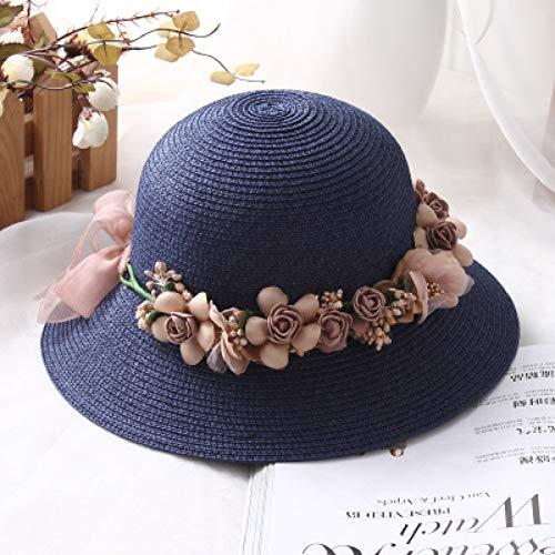 Fxhang zomer nieuwe handgemaakte bloem strohoed vrouwen slinger Sunbonnet emmer hoed zoom strand cap zonnehoed voor vrouwen