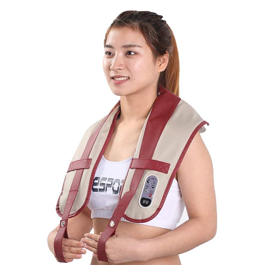 グレードステッチ相談する電動マッサージャー、 指圧式の首と肩の背中のマッサージで筋肉の緊張を和らげます