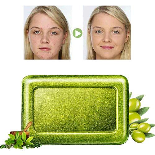 Akne Seife,Handgemachte Seife,Gesichtsseife,Teebaumöl Seife,Reinige Gesicht und Körper für alle Hauttypen,Für Akne,Ekzem, Gesichtsreinigung Behandlung für Akne Prone Haut