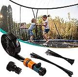Irrigatore per trampolino, 12M / 39.3 Spruzzatore per trampolino Irrigatore da giardino Irrigazione per parchi acquatici all'aperto, Accessori per trampolino per giochi d'acqua all'aperto per bambini