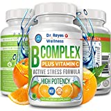 Active Vitamin B Complex with Vitamin C | Doctors Complejo B Vitamins | B12 B1 B2 B3 B6 B7 B9 Folate | Methyl...