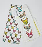 french bulldog kitchen towel - ENVOGUE Set of 2 Kitchen Towels 100% Cotton Dogs Wearing Glasses