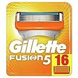 Gillette Fusion 5 Lames de Rasoir Homme, Pack de 16 Lames de Recharges [OFFICIEL]