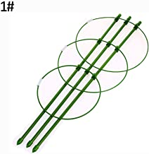 Lx10tqy Climbing Plant Support Cage Garden Trellis Flowers Tomato Stand with 3 Adjustable Rings 1#