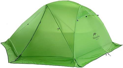 YIAIY Tente Extérieure pour 2 Personnes, Tente Alpinisme Sauvage pour La Saison De La Saison des Pluies, Adaptée à La Survie dans La Nature, Escalade en Montagne