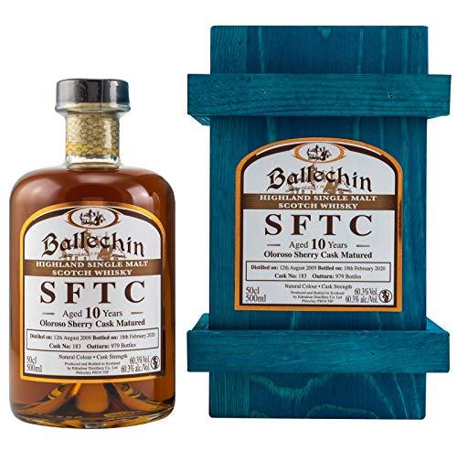Edradour Ballechin 2009 Oloroso Sherry Cask Heavily Peated Single Malt Whisky (1x0.5l) in Holzkiste