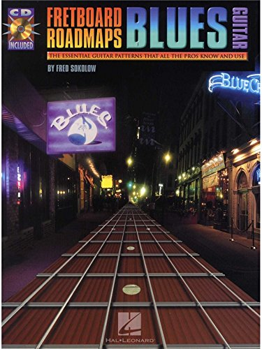 Fred Sokolow: Fretboard Roadmaps - Blues Guitar. Partitions, CD pour Tablature Guitare, Guitare