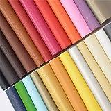 ZIIYAN 24 Stück 20 x 34 cm farbige Kunstleder-Bögen