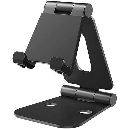 Nulaxy iPadスタンド タブレットスタンド スマホスタンド 充電スタンド 折り畳み式 270°自由調整可能 4-13インチに対応 Nintendo Switchスタンド A3(ブラック)