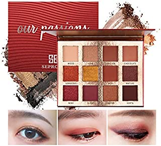 12 Color Shimmer Pallete High Gloss Foundation Make-Up Matte Blush Eyeshadow Palette Cosmetics & Makeup Brush ES128