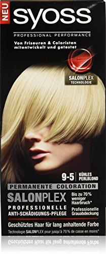 Syoss Haarfarbe, 9-5 Kühles Perlblond, 3er Pack (3 x 115 ml)