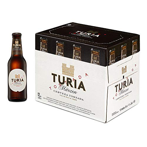 Cerveza Tostada Turia Märzen, Caja de 12 Botellas 25cl | Cerveza Märzenbier, Valencia, Tostada, de Alta Calidad, en Botellín, Refrescante