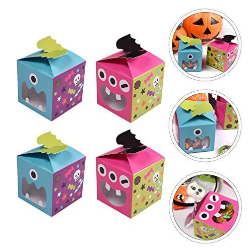 Cabilock 20 Piezas Caja de Regalo de Halloween Caja de Dulces Fantasma Tratar Cajas de Golosinas para Galletas de Regalo de Fiesta de...