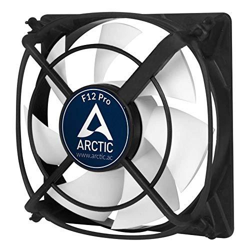 ARCTIC F12 Pro - 120 mm, Ventilateur Haute Performance, Ventilateur Boitier, Refroidisseur Silencieux pour Unité Centrale, Roulement à Fluide Dynamique, Support Anti-Vibration, 1500 RPM