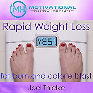 Rapid Weight Loss, Fat Burn and Calorie Blast with Self-Hypnosis, Meditation and Affirmations audiobook cover art