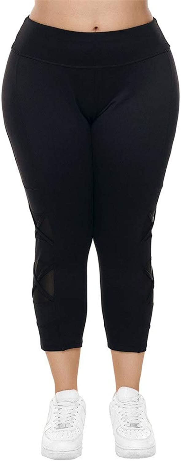 Yoga Pants for Women Women's Running Yoga Leggings Casual Gym Running Sweatpants with Large Size Ladies Leggings (color   Black, Size   XL)
