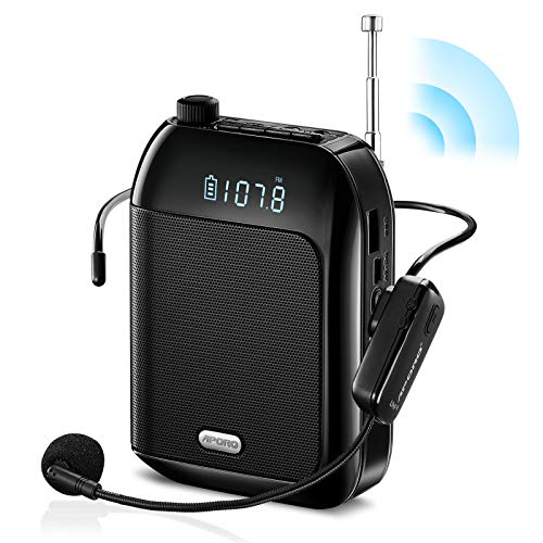 Riiai Portable Voice Amplifier 15W Voice Loudspeaker with Wired Microphone...