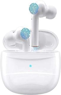Auriculares inalámbricos Bluetooth V5.0, micrófono Integrado con Sonido 3D, Compatible con Android, Airpods, AirPods Pro/Samsung (Blanco)