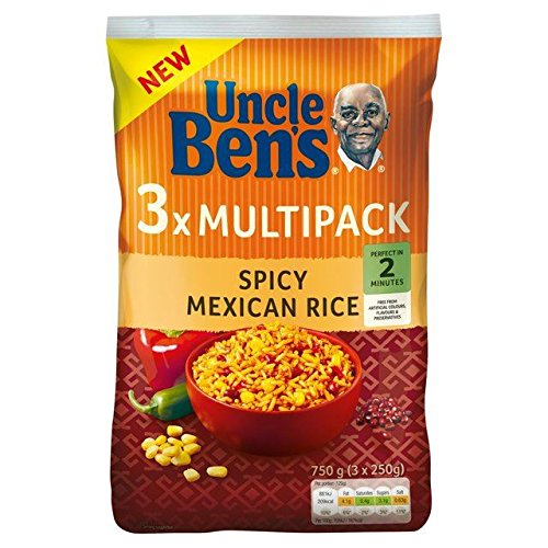 Uncle Bens Spicy Mexican Rice Multipack 3 x 250g