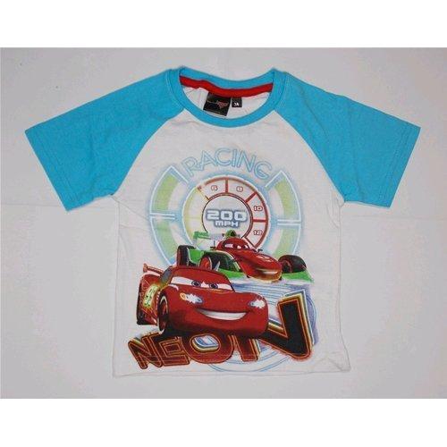 T-shirt t-shirt d'été Enfant Disney Cars 3/8 ans – oe1215/2 2-3 years bianco
