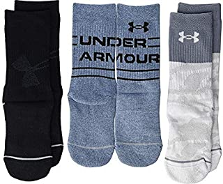 Under Armour Youth Phenom Crew Socks, 3-Pairs