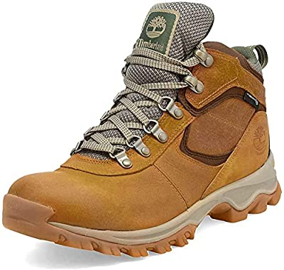Timberland Men's Mt. Maddsen Mid Leather Wp Hiking Boot, light brown full grain, 12 Wide US