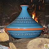 YODECO Tajine Marrakech Blu–D 31cm Tradizionale...