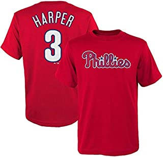 70c47d654 Outerstuff Bryce Harper Philadelphia Phillies MLB Majestic Youth Player  Name   Number T-Shirt