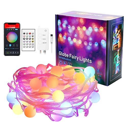 Alexa Smart Fairy String Lights, FREECUBE 5M WiFi Bluetooth Music Sync RGB Led Fairy Lights with Remote APP Control, Work with Alexa & Google Home, IP65 Waterproof USB Powered for Indoor Outdoor Decor