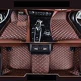 saitake Car Custom Floor Mats for Lincoln MKX 2010-2013 Waterproof Leather Carpet Anti-Slip Full Coverage Liners Coffee Color