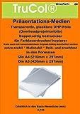 100 feuilles A3 CLEAR / cristal TRANSPARENT feuille OHP clair pour imprimante laser...