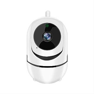 WCJ La cámara la cámara 1080P Inicio Seguridad for el bebé el Pastor Pet cámara Nocturna del Monitor Pan Tilt Control de Giro ángulo Muerto de la visión n (Blanco)