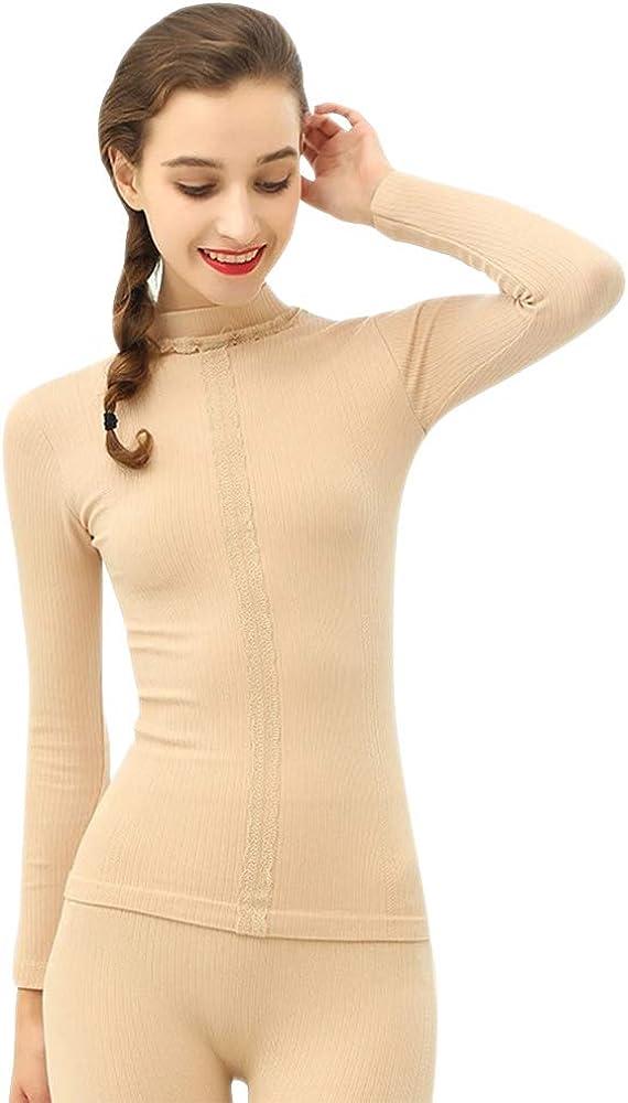 XFentech Women Thermal Underwear Set - Functional High Collar Pyjamas Set