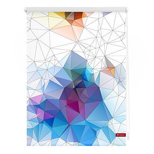 Lichtblick Rollo Klemmfix, 80 x 150 cm mit Motiv Grafik - Bunt Montage ohne Bohren, moderner Sicht-und Sonnenschutz, Motivrollo, lichtdurchlässig & Blickdicht
