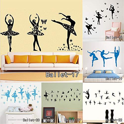 Vinilos De Pared Infantil Bailarina de ballet Sexy Lady Wall Art Room Sticker Decal Silueta Mujer Dace Puerta Ventana Plantillas Mural para niña Dormitorio