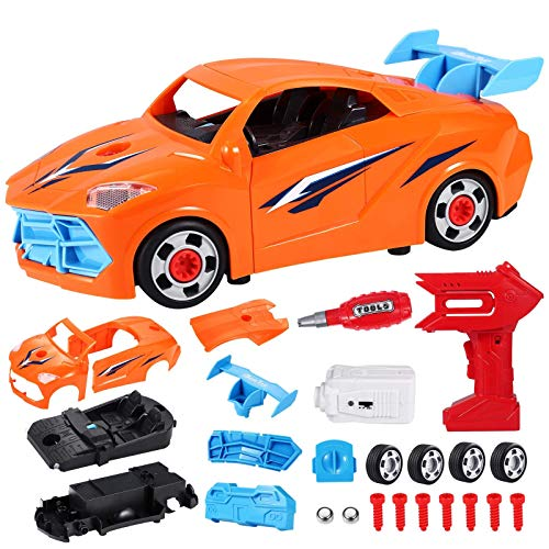 Take Apart Racing Car Toys | Converts to Remote Control Car | Build Your Own Engine Toy Car with Construction Tools Set | Toy Car Repair with Sounds & Lights | Kids Gift Toys for Boys 3 4 5 Years Old