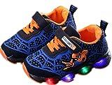 2019 Otoño Nuevos Zapatos Intermitentes para Niños Zapatos Deportivos para Niños Zapatos Spider-Man Zapatos De Suela Blanda (EU27,Azul)